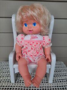 """Vintage Kenner BABY ALL GONE 13"""" Doll 1991 Original Pink Dress Blonde Blue Eyes"""