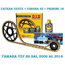DID KIT TRASMISSIONE CATENA 525 CORONA PIGNONE YAMAHA YZF R6 2006 R 6 100523
