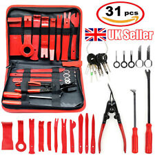 31Pcs Car Door Trim Panel Removal Install Tool Kit Molding Pry Interior Clip Set
