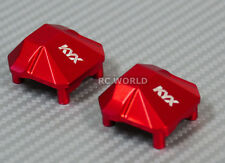 Axial SCX10 II 2 Front METAL AXLE COVERS For F+R Axles SET RED