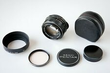 ASAHI Opt Co. Pentax Super - Takumar 50mm f1.4 M42 Mount Lens, Lens Hood w/ Case