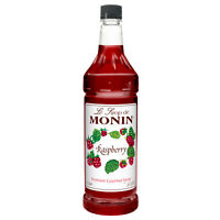 Monin Raspberry Premium Gourmet Flavored Syrup (33.8 Ounce, Pack Of 4)