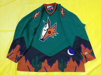 Phoenix Arizona Coyotes Jersey Green pro Player Mens XL retro  proplayer desert