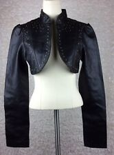 Rue 21 Bolero Short Cropped Faux Leather Jacket Long-Sleeve Brown Size MEDIUM