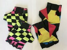 2 x Pairs of small Vintage retro cycling mitts