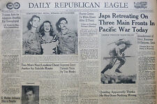5-1945 WWII May 28 JAPANESE RETREATING ON THREE MAIN FRONTS IN PACIFIC WAR TODAY