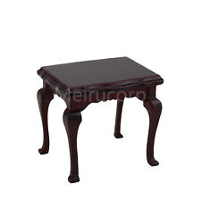 Dollhouse miniature furniture 1/12 scale Jujube red Small table Wooden model