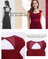 Ever-Pretty Bridesmaid Dresses Long Chiffon Formal Party Dress Burgundy 08834