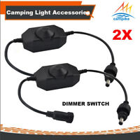 2X Dimmer Switch for 12V LED Camping Light Kit Rigid Strip Bar Caravan 4WD 4X4