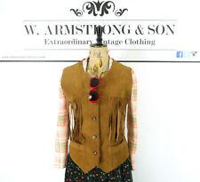Unbranded Leather Button Waist Length Waistcoats for Women