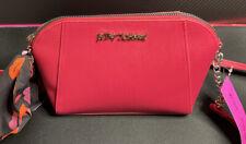 Betsey Johnson Crossbody Hot Pink Chain Strap Handbag 👜 With Scarf