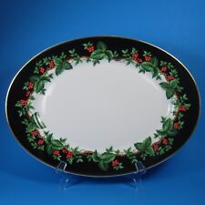 Waverly HOLIDAY BOUQUET Oval Serving Platter Christmas Poland