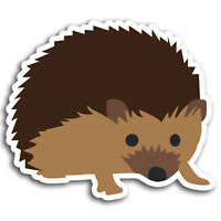 2 x 10cm Cartoon Hedgehog Vinyl Stickers - Garden Sticker Laptop Luggage #19450