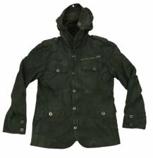 Firetrap Jacket With Hood Military Army Green Zip Cotton Men's Large