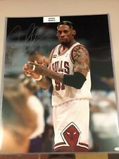 DENNIS RODMAN Autograph CHICAGO BULLS Signed 16x20 Photo 2017 Leaf Vault
