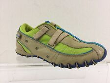 "DIESEL ""EXPLORER"" KIDS TAN,LIME GREEN & BLUE CASUAL LOAFER SIZE 1"