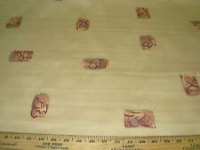"""15 YDS~CROWSON~""""LEO""""ASIAN ORIENTAL WRITING~COTTON UPHOLSTERY FABRIC FOR LESS"""