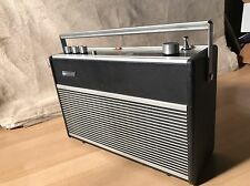 Hacker Black Knight FM Radio RP74 Portable Mains Battery Vintage 1970s