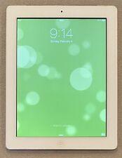 "LOCKED Apple iPad 2 White 16GB WiFi 3G GSM 9.7"" 768x1024 512MB 1GHz 2core A1396"