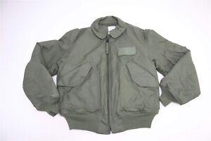 USGI Issued CWU-45/P Cold Weather Flyer's Jacket LARGE (L) Sage Green NAVY