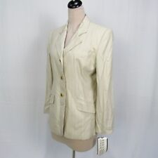 NWT Executive Collection 3 Button Front Striped Jacket Blazer Women Size 12 R18