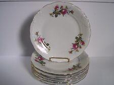Wawel Royal Vienna Enchanted Garden Rose Bread Plates Set of 8 Made in Poland