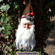 Pere Noel tête à suspendre sapin couronne déco table fêtes de fin d'année chocol