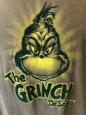 The Grinch T shirt size Large by Dr Seuss Felt Embroidered(2001)