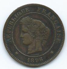 5 centimes Cérès 1896A torche rare TTB