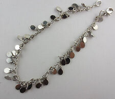 Silvertone Dangling Teardrops Ankle Bracelet Anklet