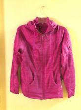 90 DEGREE BY REFLEX DEEP VIOLET STRIPE HOODIE WITH THUMB HOLES SIZE XL NWT