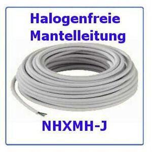 Halogenfreie Mantelleitung  NHXMH-J 5x2,5 ,  100m  Installationskabel Kabel