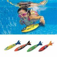 4PCS/Set Underwater Torpedo Rocket Swimming Pool Toy Swim Dive Sticks Game New