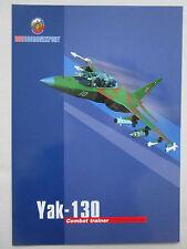 2000'S DOCUMENT RECTO VERSO ROSOBORONEXPORT YAK-130 COMBAT TRAINER