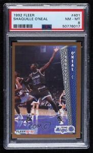 1992-93 Fleer Shaquille O'Neal #401 PSA 8 Rookie RC HOF