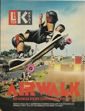 Airwalk Lester Kasai Advert from Thrasher Skateboard Magazine 1988