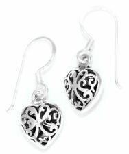 Ohrhänger 925 Silber, Ohrring, Herz mit Ornamenten, schön, romantisch, vintage