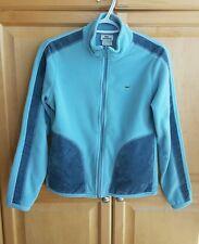 Lacoste Light Blue Fleece Sweater Full Zip Velvet Trim Sz: 38 /small