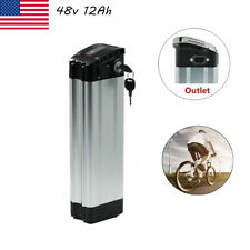 48V 12Ah 350W Silver Fish Li-ion Lithium Battery for Electric Bicycles E-Bike