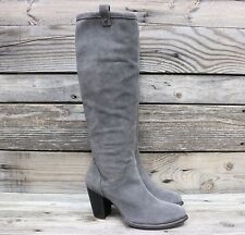 UGG Australia Womens Ava Nightfall Tall Suede Sheepskin Heels Boots US 8 NEW!