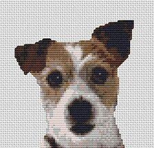 "Jack Russell  Counted Cross Stitch Kit 6"" x 6"" 15cm x 15cm"