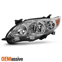 Fits 2011-2013 Toyota Corolla Driver Left Side Headlight Clear Replacement Lamp