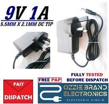 DC 9V 1A 1000mA AC Power Supply Adapter Converter Charger 100-240V 3Pin UK Plug