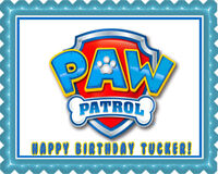 Paw Patrol (Nr4) - Edible Cake Topper OR Cupcake Topper, Decor