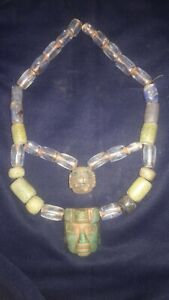 Pre-Columbian turquoise and quartz necklace Moche,CHAVIN, MOCHICA, CHIMU, RECUAY