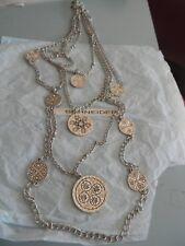 Premier Designs STUNNING silver crystal 4 strand necklace RV $49 free ship nwt