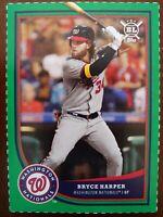 Bryce Harper 2018 Topps Big League Green Box Cut #B2 Nationals Phillies