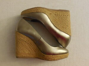 ENZO ANGIOLINI Womens Neons Rope Platform Ankle Strap Wedge Heels 8.5 M