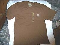 Mens Large T Shirt Pocket Tshirt Carhartt Shirt Work Wear Shirt Brown T Shirt