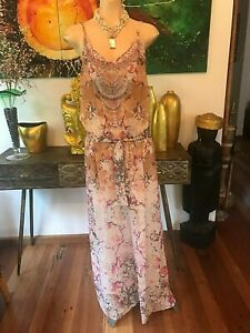 GiGi & ELLA Jumpsuit Cream Floral  BNWT Size L